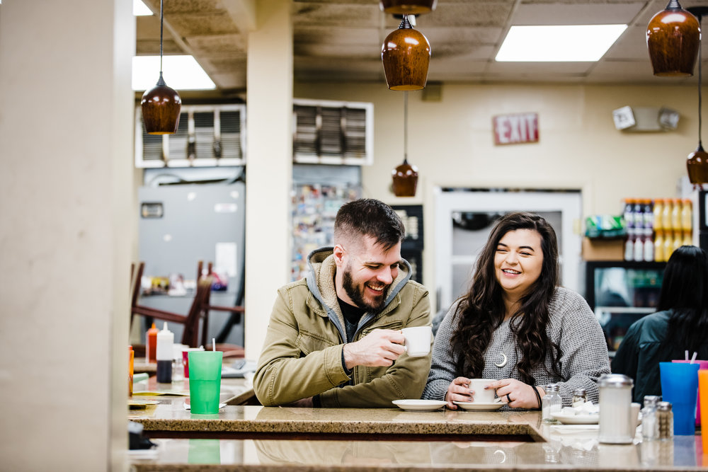 Adventure session photography at Lincoln's Waffle  in Washington DC - DCorzo