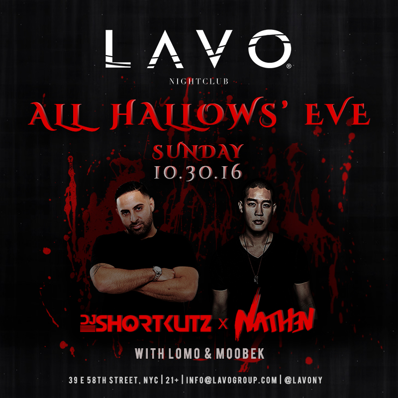 Hallows Eve at LAVO NY - Oct 30 - Nathen - ECL Events