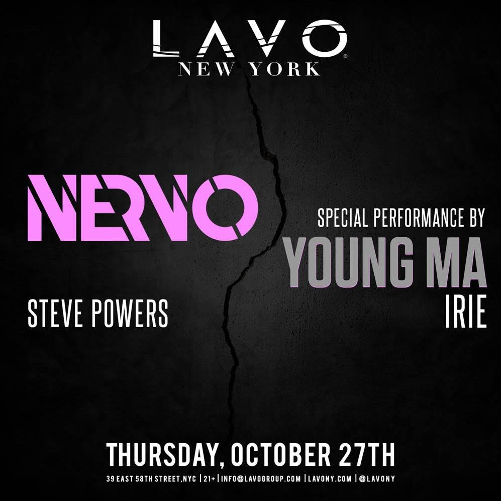 NERVO & YOUNG MA at LAVO 10/27