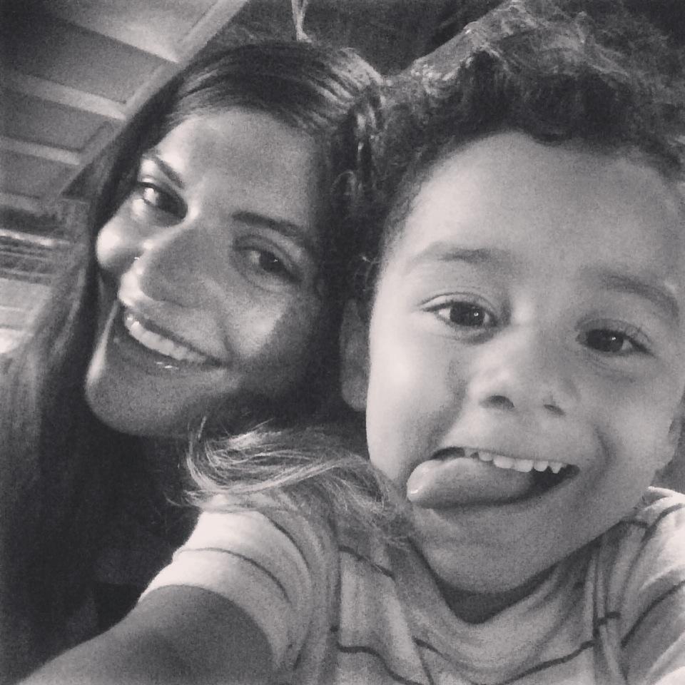 Me and Angél, age 6