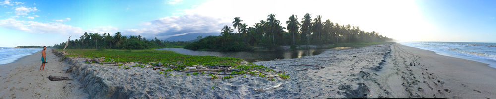 Where the river meets the sea; Palomino, Colombia