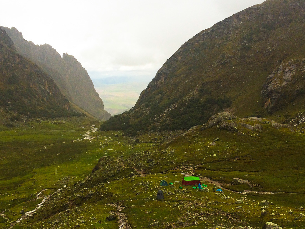 Spotting our tent was a huge relief after hiking in the Andes for eight consecutive hours at 4,700 meters altitude