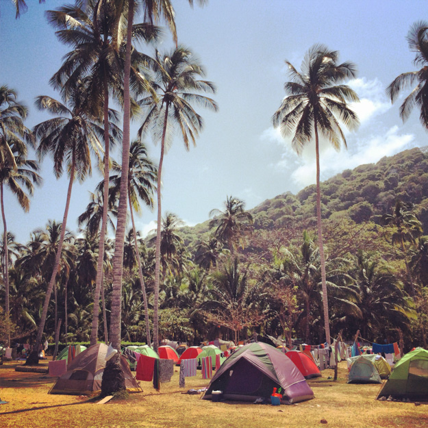 Don Pablo campsite in Tayrona National Park, Colombia