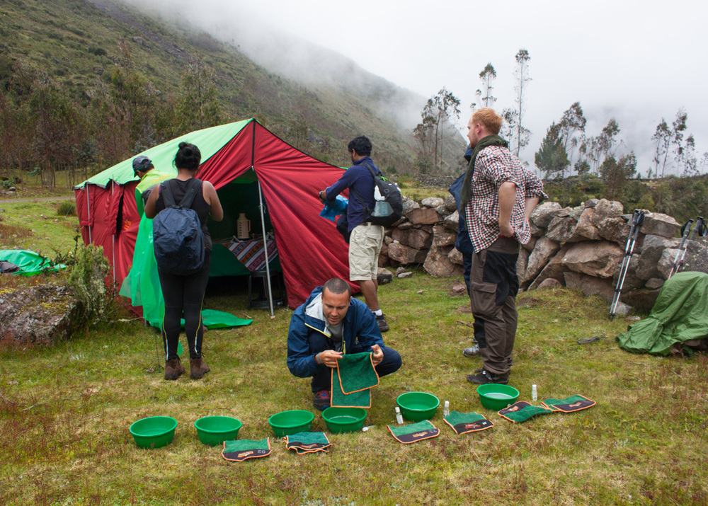 Our house-tent in Lares, Peru