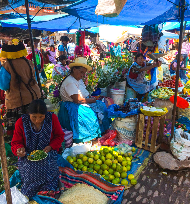 The market in Calca, Peru