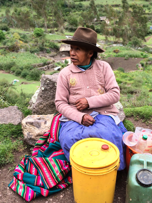 "Brewing ""happy beer"" in Lares, Peru."