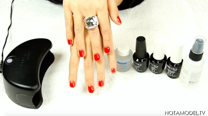 DIY gel nails using Gelcolor by OPI