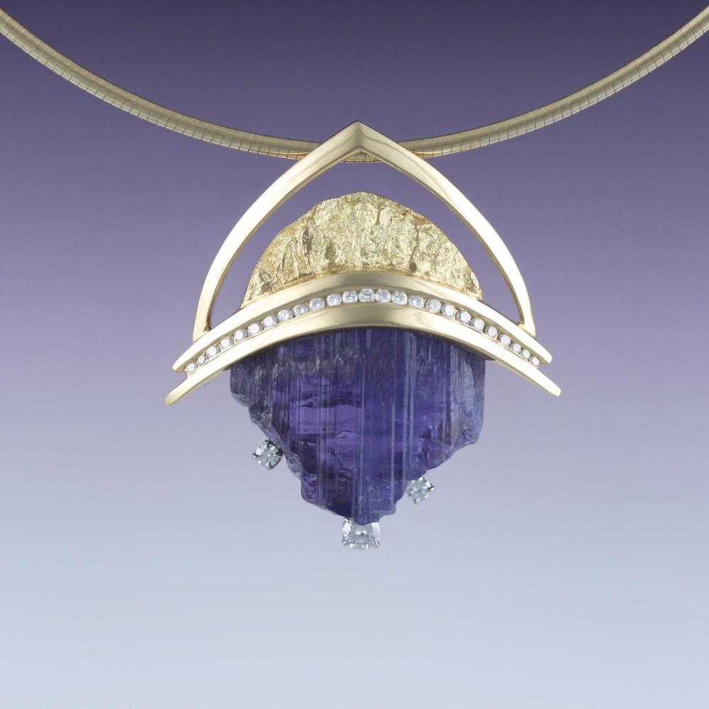 Tanzanite Crystal Pendant