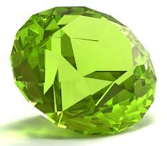 Peridot, faceted
