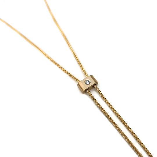Bolo Slide, 14 karat gold, diamond