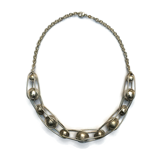 Ball Bearing Neckpiece, sterling silver