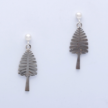 White Gold Post Earrings