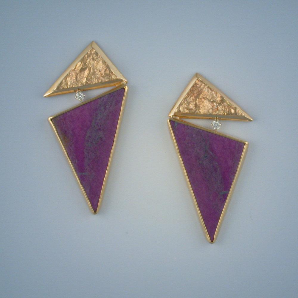Sugilite earrings