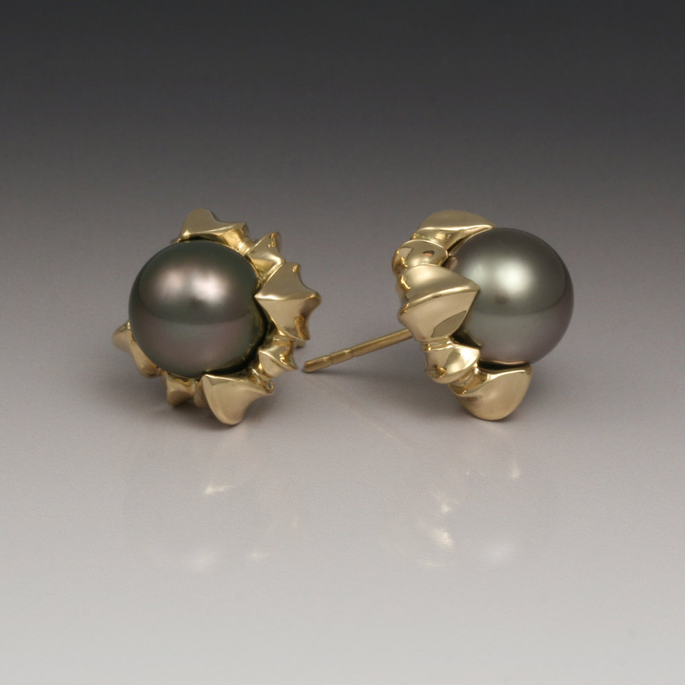 Jennifer Earrings with Tahitian Pearls