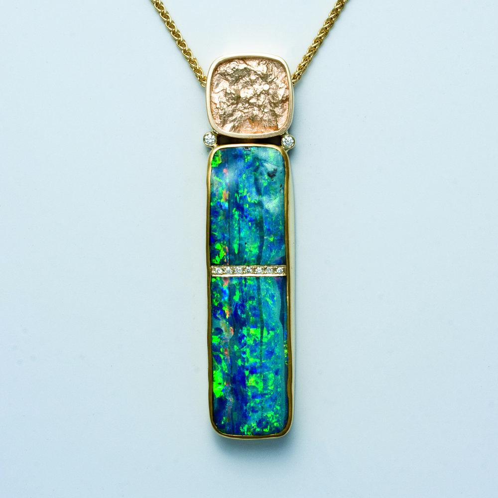 Long Opal Pendant