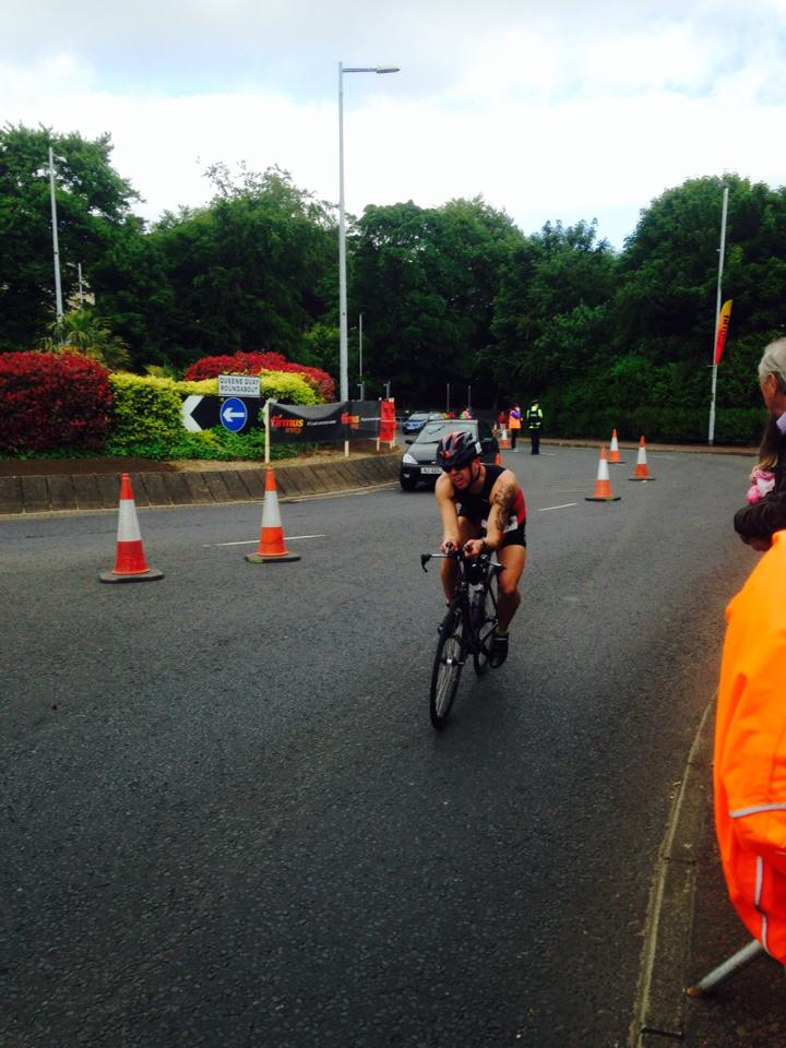 Full flight during sprint triathlon in Derry