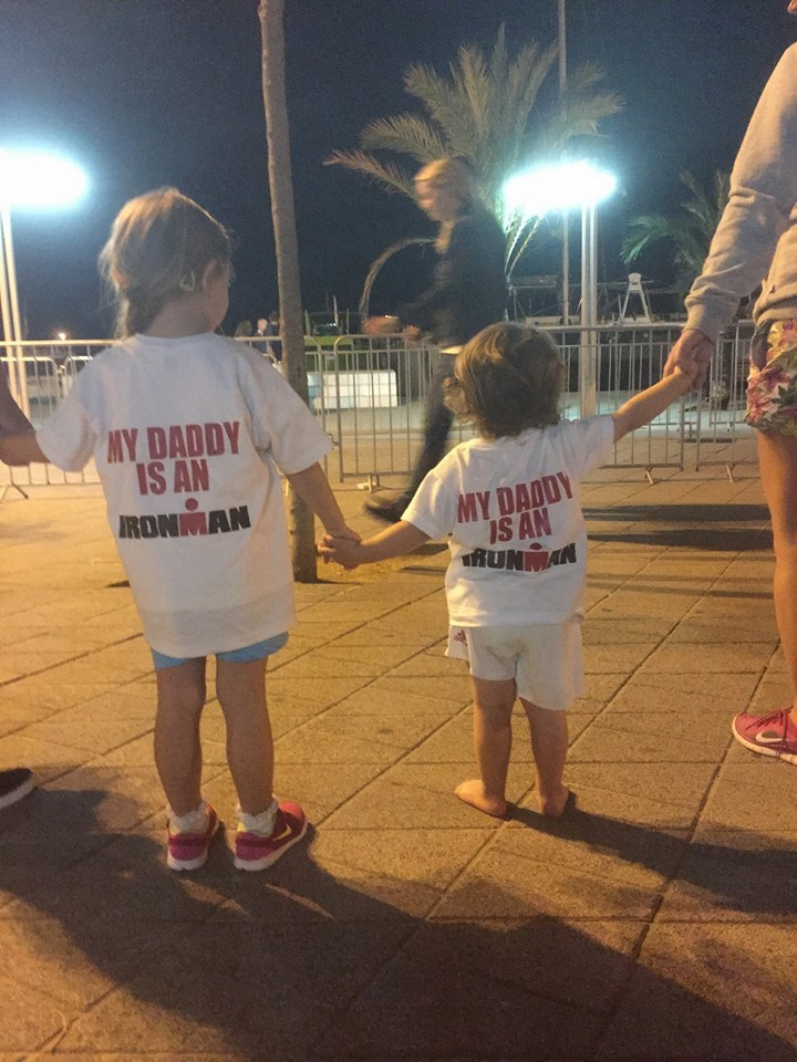 Alcudia Majorca ironman 2015 - my pride and joy conor junior and lilyanna
