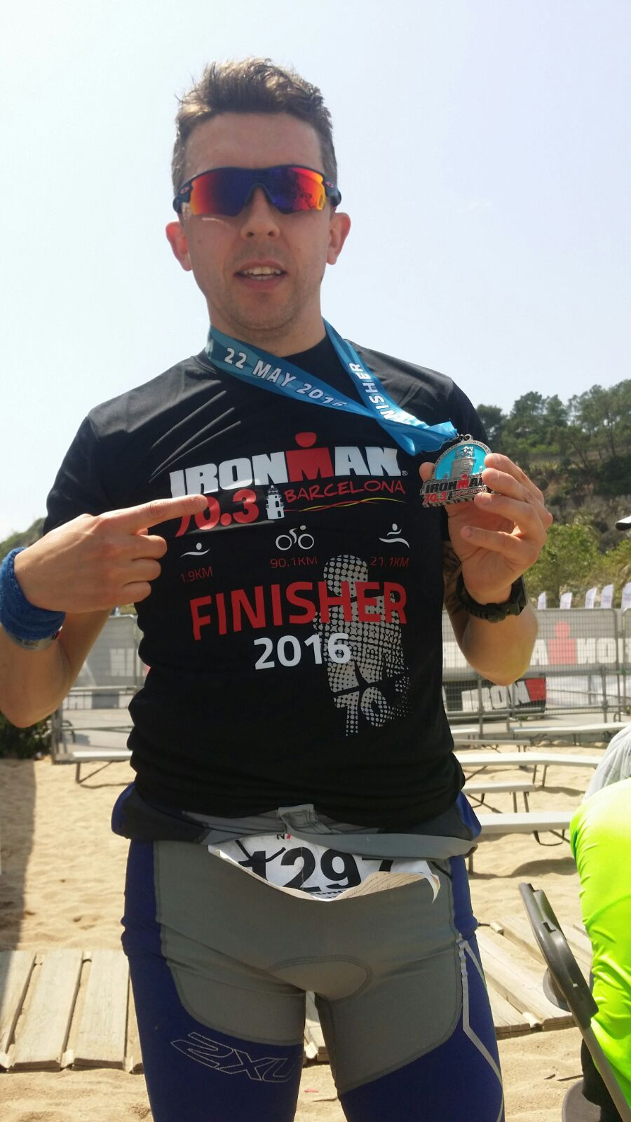 Proud to be strong enough to finish another 70.3 mile IRONMAN race iN Barcelona