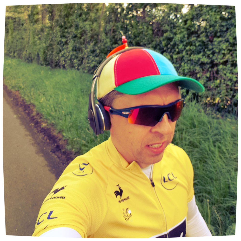 Training run with my lucky hat I got as a present from the Ultimate Triathlete LUKE TYBURSKI :) June 2017