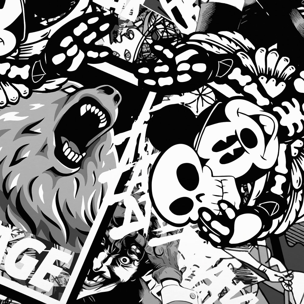 Black & White Mash-Ups by the Tinker Brothers