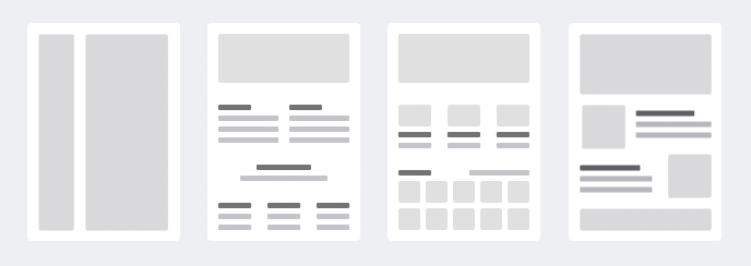 Responsive Page building - A page builder starts with a variety of template options. All pages created are fully responsive, making them tablet and mobile friendly without having to touch a line of code.