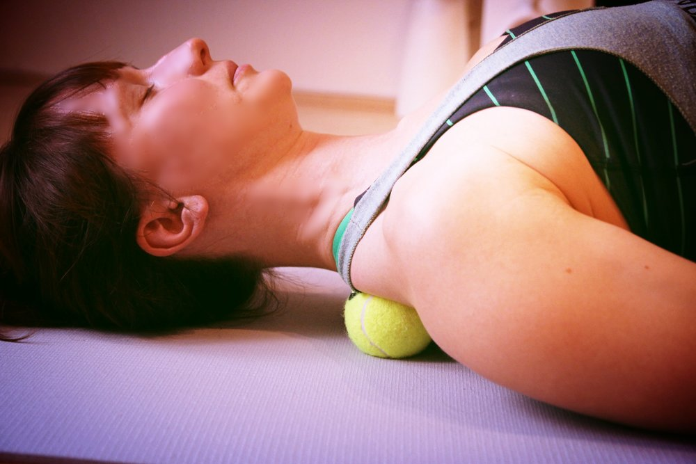 Self massage - Myofascial release with tennis balls is a great way to treat tension. It gives you the tools to fight the pain quickly and effectively