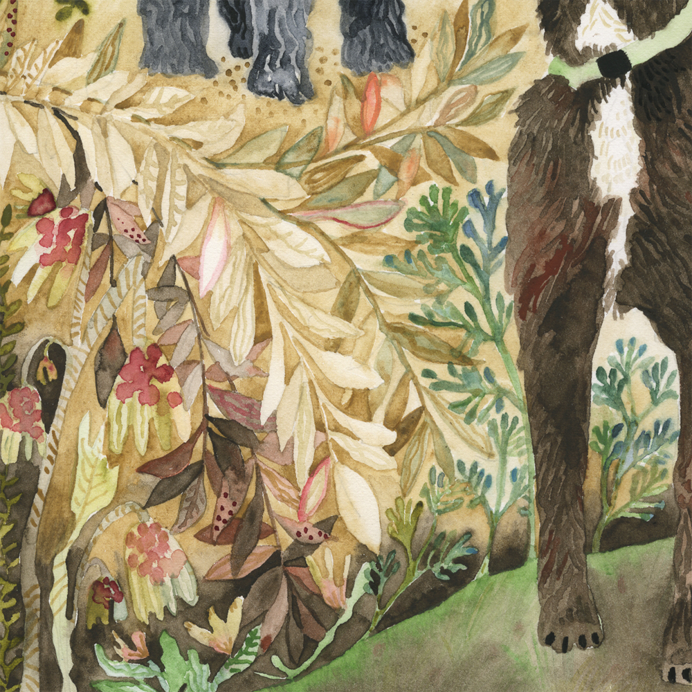 """Two Dogs"" detail"