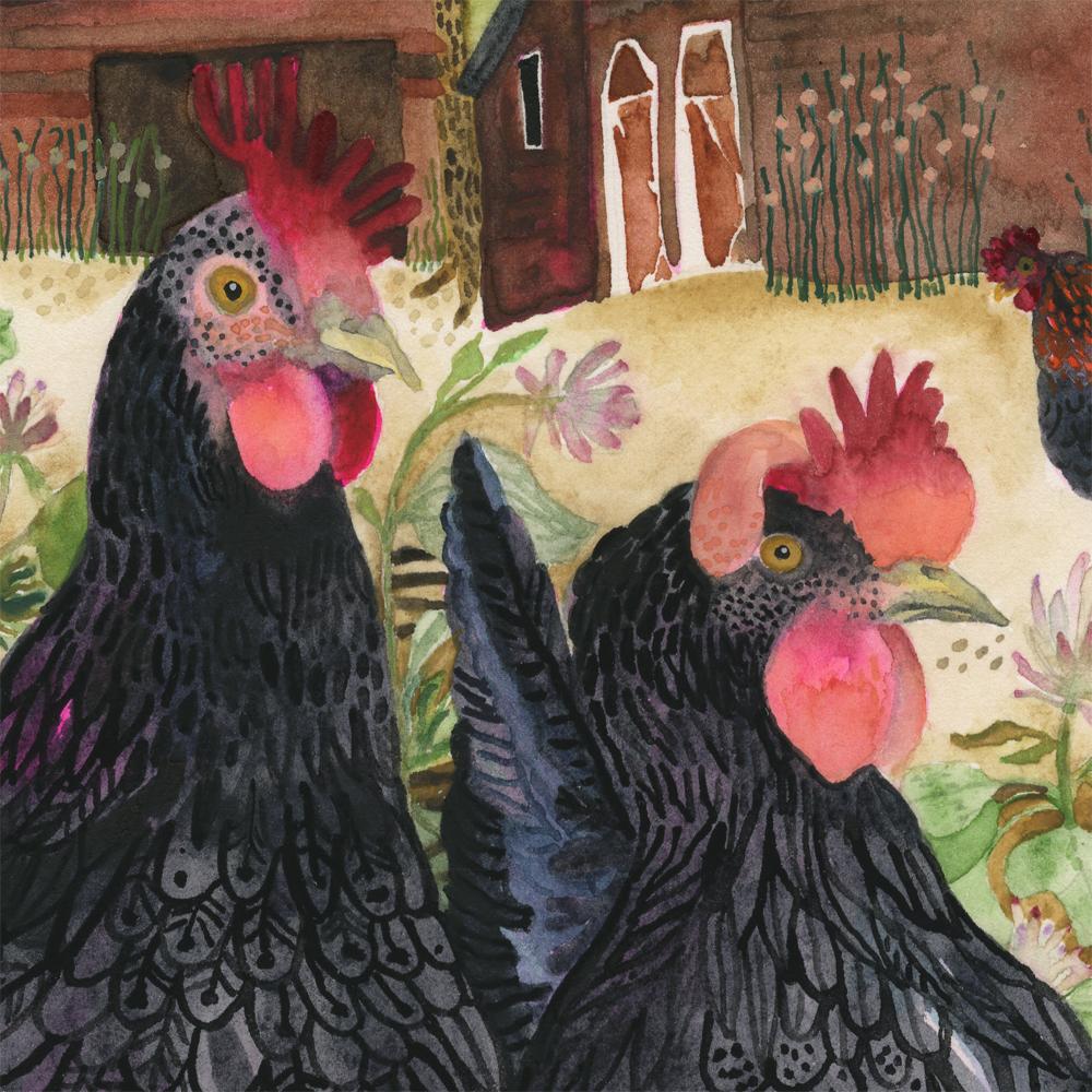 """Hens"" detail"