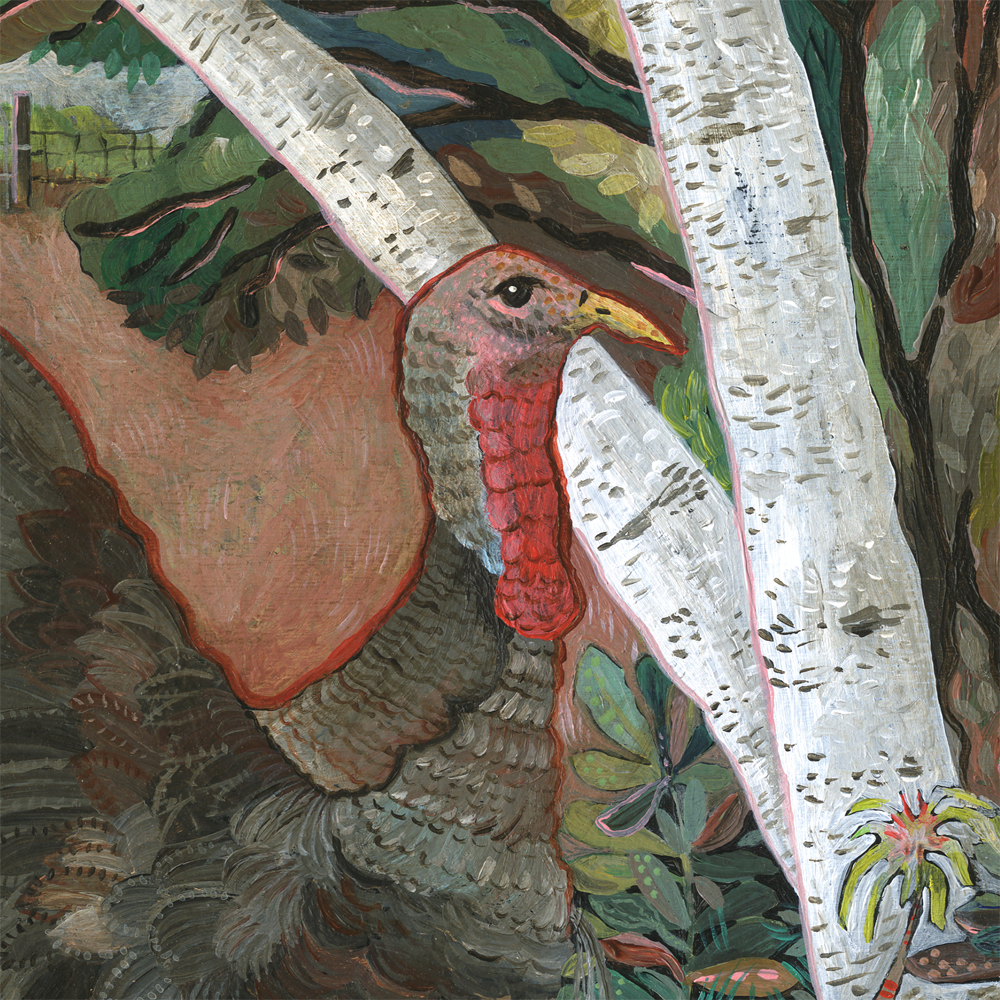 """Wild Turkey"" detail"