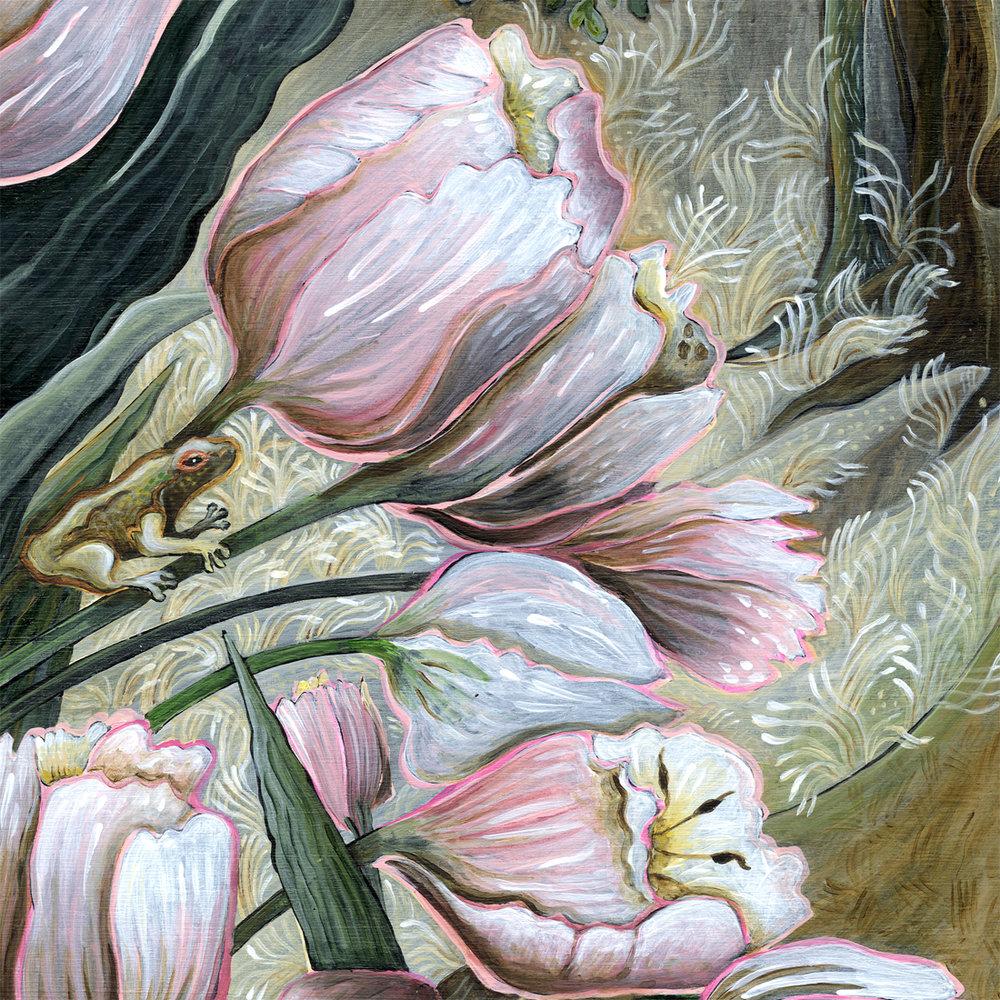 """""""Pink Tulips"""" detail."""