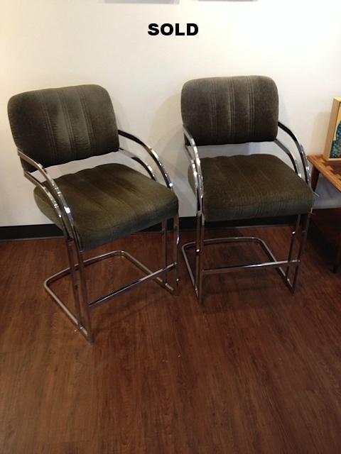 Milo Baughman bar stools