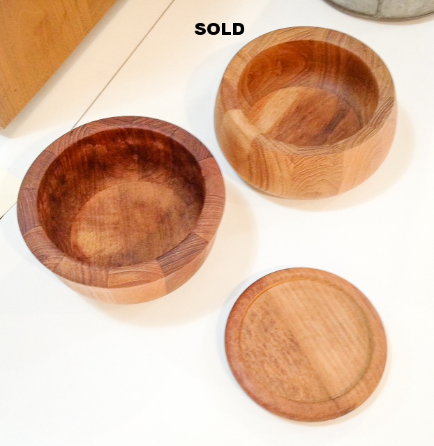 Dansk teak bowls and coaster.