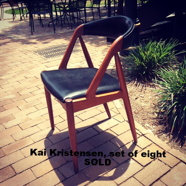 Kai Kristensen Chairs, set of eight