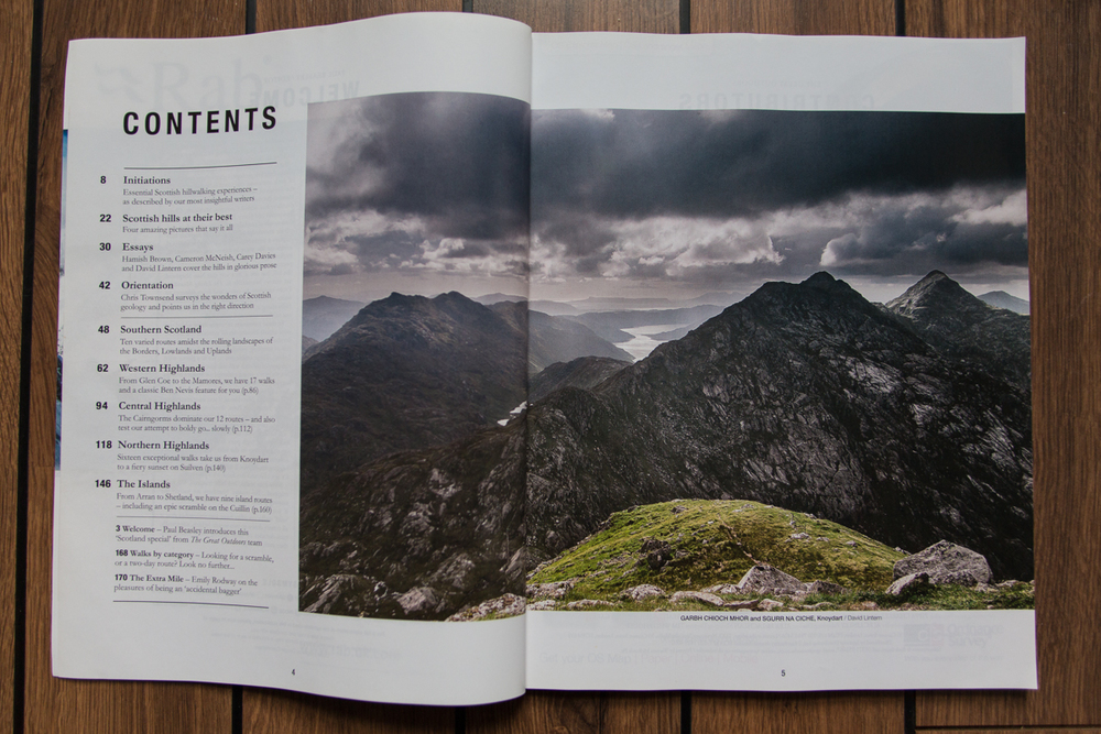 The Great Outdoors Scotland 'Bookazine': photos, essay, walks
