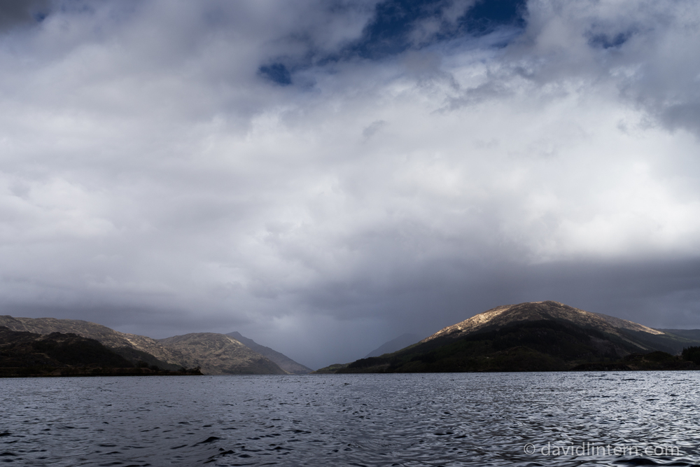 spring showers on Loch Shiel