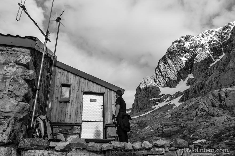 arriving at the CiC hut