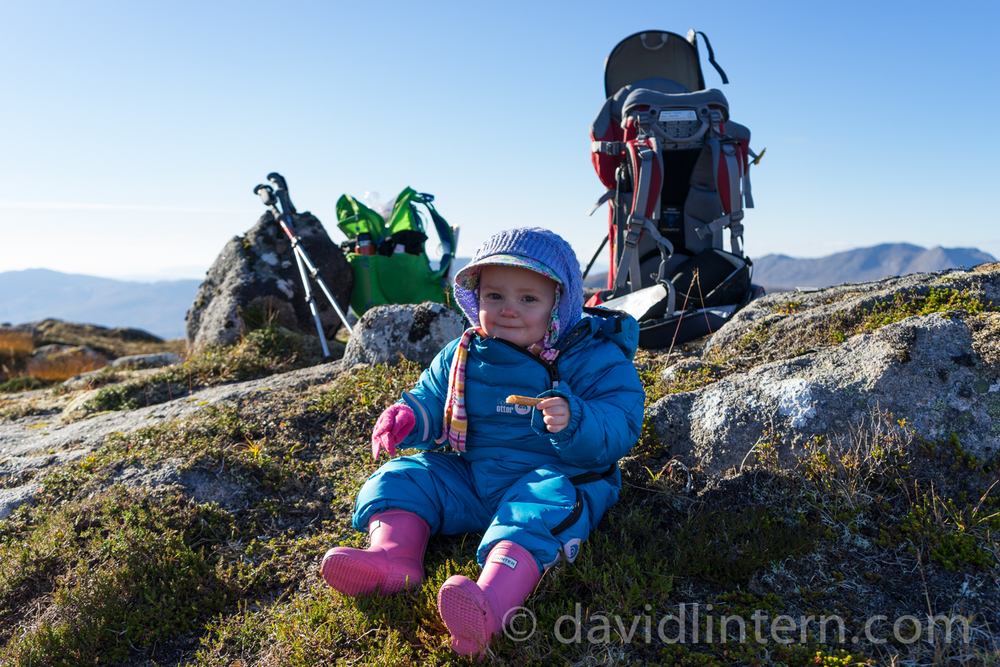 My daughter being a badass on the north ridge of Ben Starav this autumn. Watch it, she'll have your eye out with that breadstick.
