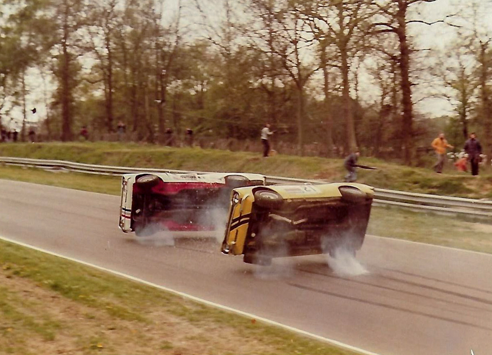 Shot from the hip at Brands Hatch by my stepdad in 1977, ended up as the centre DPS in the Photography of the Year book 1977. We were oh so proud. So was he.