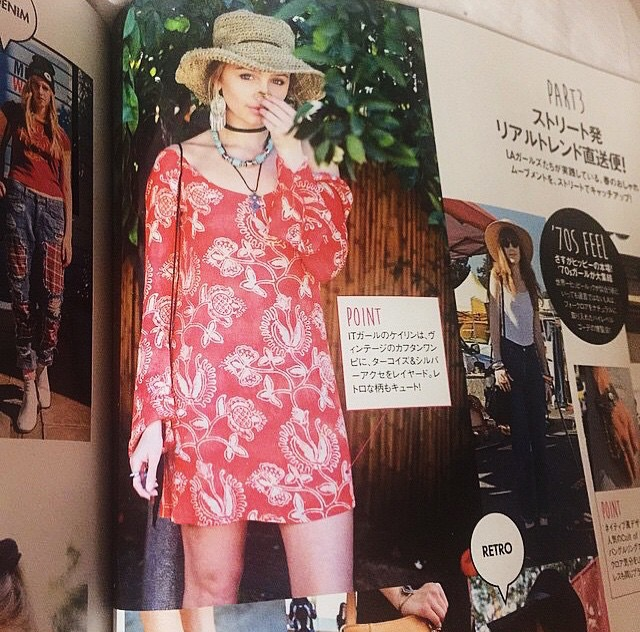 Cailin Russo wearing the Maize Bell Sleeve Dress in Songbird in Elle Girl Japan