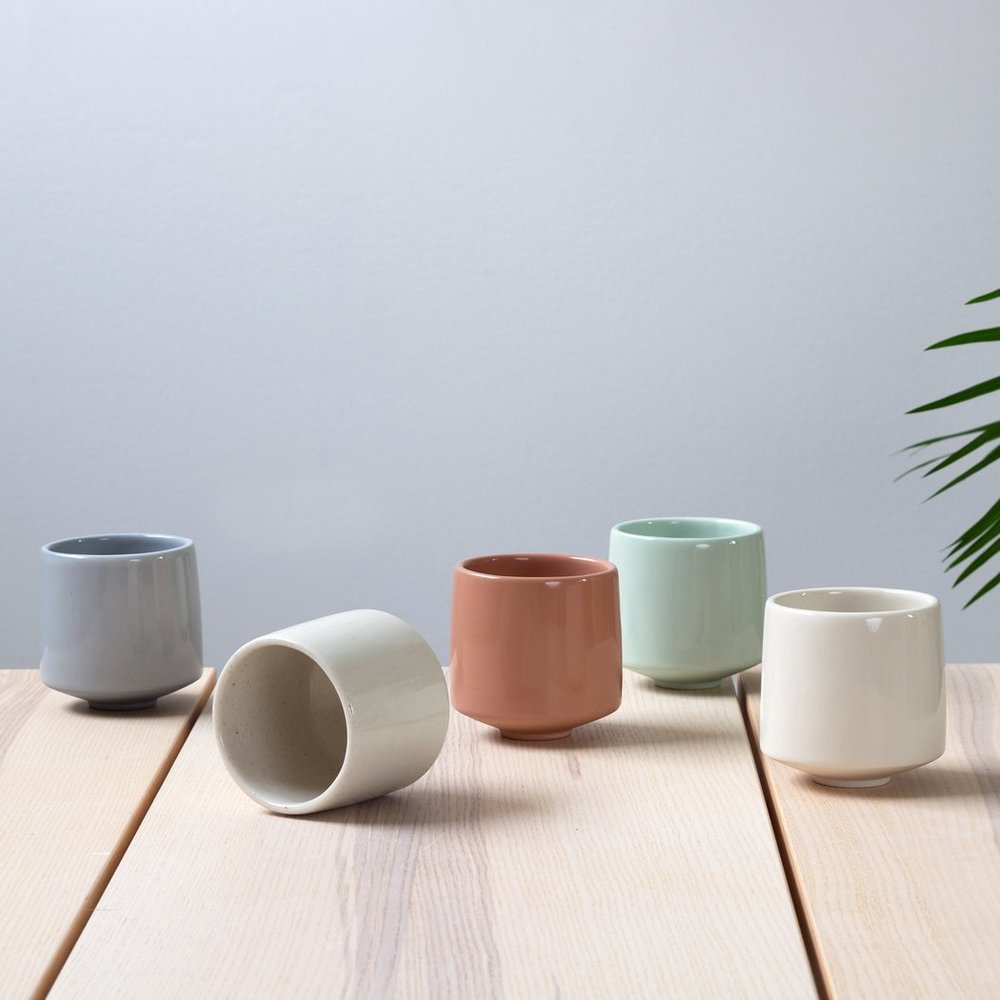 Pigeon Toe Ceramics - Portland-based Pigeon Toe Ceramics is female+sibling owned. All items are handmade with the intention to bring beauty to every day objects - encouraging us to notice the inherent beauty in the things that populate our daily lives. The wine-lover in your life needs these elegant wine tumblers and you need invite yourself over with a bottle of wine!