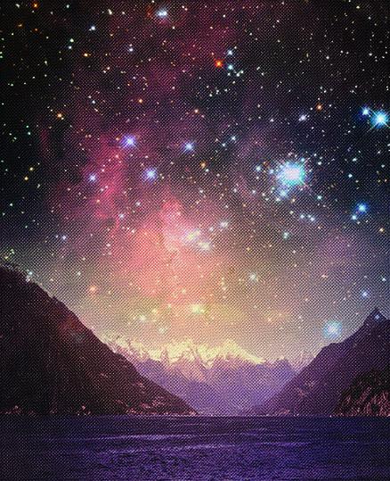 """Infinity #1"" - CMYK Four-Colour screen print"