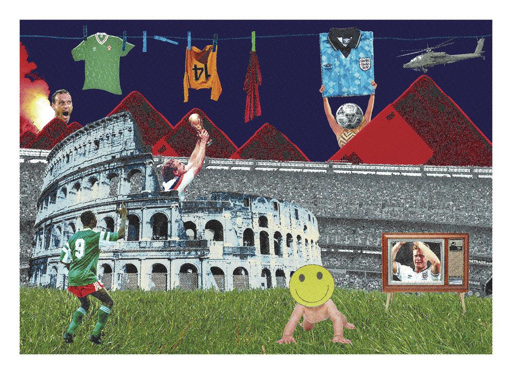 """""""Italia, 1990."""" - CMYK Four-Colour screen print"""