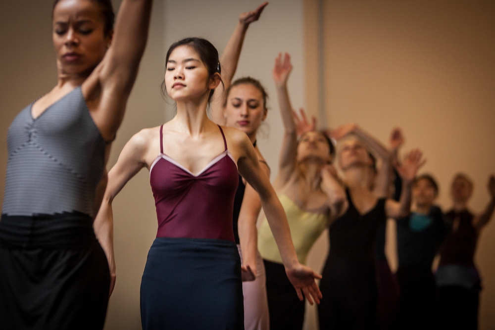 Grace Song in Chronicle Rehearsal with Martha Graham Company, photo credit: