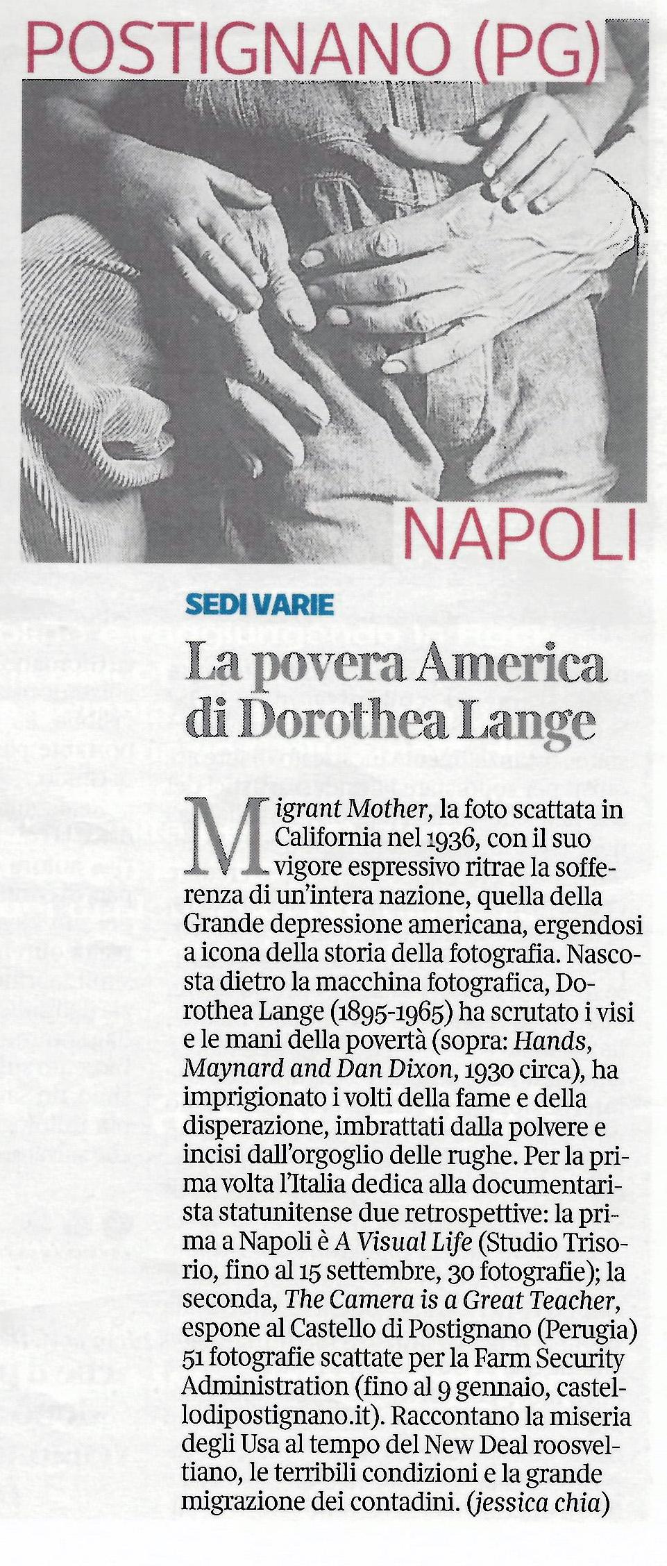Corriere della Sera - 04/09/2016
