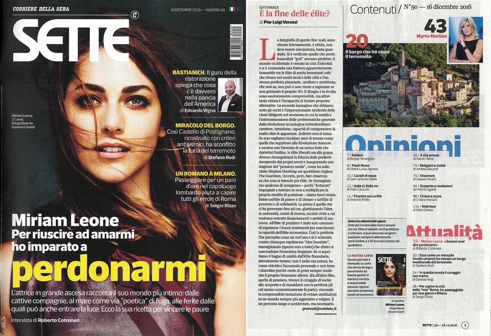 SETTE - Corriere della Sera 16/12/2016