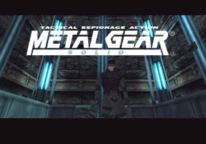 Metal Gear Solid (1998) elevator logo cutscene