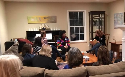 Here I am reading from The Red Car at a book club in Wayne, New Jersey.