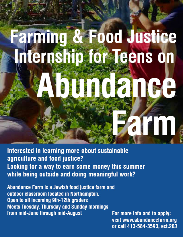 teen internship flyer