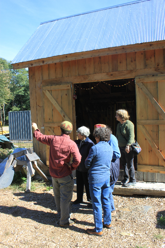 the shed quickly became the heart-center of the farm