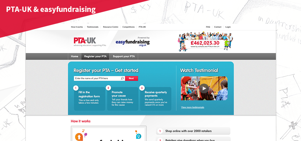 PTA-UK & easy-fundraising